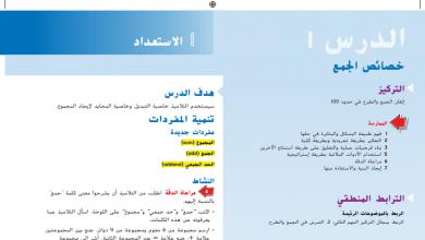 Photo of حل درس خصائص الجمع رياضيات صف ثاني فصل أول