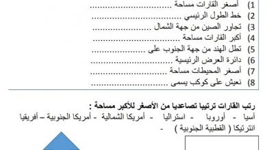 Photo of ورقة عمل شاملة نهائية دراسات اجتماعية صف رابع فصل أول