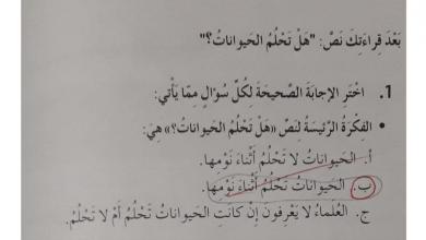 Photo of حل درس هل تحلم الحيوانات لغة عربية صف ثالث فصل أول