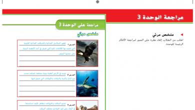 Photo of حل مراجعة وحدة الكائنات الحية في الأنظمة البيئية علوم صف ثالث فصل أول