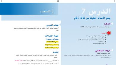 Photo of حل درس جمع الأعداد المكونة من ثلاثة أرقام رياضيات صف ثالث فصل أول