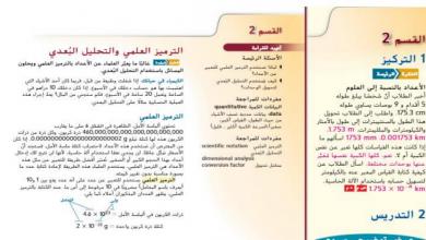 Photo of حل درس الترميز العلمي والتحليل البعدي علوم صف تاسع فصل أول