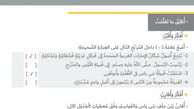 Photo of حل درس الفكر الوحدوي دراسات اجتماعية صف رابع فصل أول