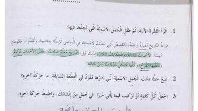 Photo of حل درس الجملة الاسمية وحدة بطولات خالدة لغة عربية صف رابع فصل أول
