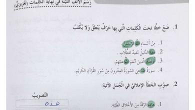 Photo of حل درس رسم الألف اللينة في نهاية الكلمات وحدة بطولات خالدة لغة عربية صف رابع فصل أول