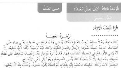 Photo of حل درس النص التطبيقي الزهرة العجيبة لغة عربية صف ثالث فصل أول