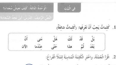 Photo of حل درس أين نجد السعادة لغة عربية صف ثالث فصل أول