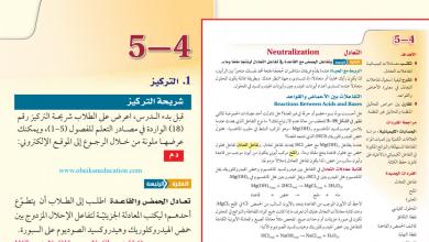 Photo of حل درس التعادل أحياء صف ثاني عشر متقدم فصل أول