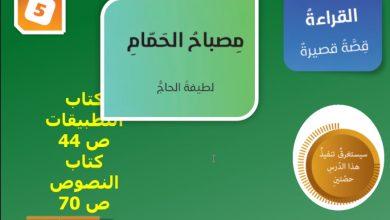 Photo of حل درس مصباح الحمام لغة عربية صف عاشر فصل أول