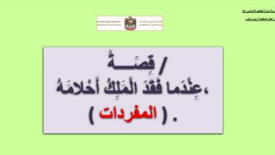 Photo of مفردات درس عندما فقد الملك أحلامه لغة عربية صف ثالث فصل أول