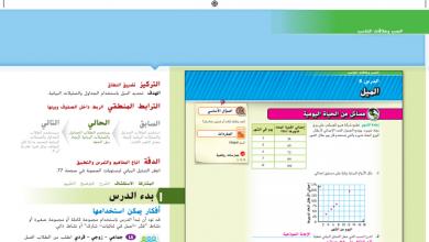 Photo of حل درس الميل رياضيات صف سابع فصل أول