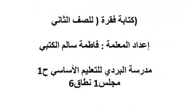 Photo of كتابة فقرة طعامي المفضل لغة عربية صف ثاني