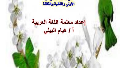 Photo of ملخص مفردات ومهارات الفصل الأول لغة عربية صف ثامن