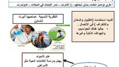 Photo of ملخص الدروس الثلاثة الأولى علوم صف خامس فصل أول