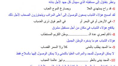 Photo of شرح قصيدة إلى شباب بلادي لغة عربية صف ثامن فصل أول