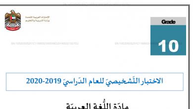 Photo of الاختبار التشخيصي مهارة الكتابة لغة عربية صف عاشر