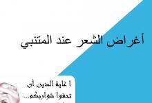 Photo of بوربوينت أغراض الشعر عند المتنبي لغة عربية صف ثاني عشر فصل أول