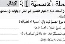 Photo of شرح الجملة الاسمية لغة عربية صف ثاني عشر فصل أول