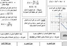 Photo of مذكرة المنقذ في الرياضيات رياضيات صف ثاني عشر فصل أول