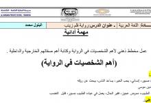 Photo of شخصيات قصة قلم زينب لغة عربية صف ثاني عشر فصل أول