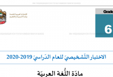 Photo of الاختبار الشخيصي مهارة الكتابة لغة عربية صف سادس فصل أول
